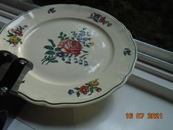 Villeroy&Boch ALT STRASSBURG rózsás virágos polikróm tányér,Merkúr jelzés,mosogató gépben is mosható