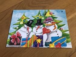 Hóemberes karácsonyi képeslap