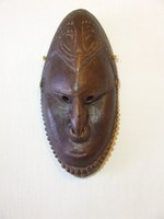 Kerámia törzsi maszk,falidísz