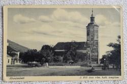 Régi képeslap Abaujszántó a 800 éves római katolikus templom