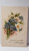 Régi búza virágos képeslap, üdvözlőlap, levelezőlap 1933