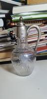 Üveg/ ezüst kombinációjú kiöntő