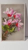 Régi virágos képeslap, üdvözlőlap, levelezőlap 1942