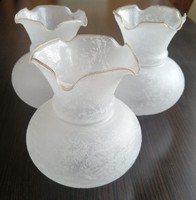 Nagyon gyönyörű fordos  csillár, lámpa  üvegbúra 3 darab