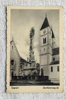 Régi képeslap Veszprém Szentháromság tér