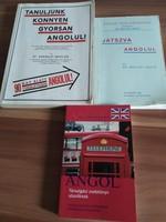 2 db angol nyelvkönyv és 1 db társalgási zsebkönyv
