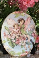 Royal Worcester virágtündéres falitányér