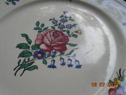 Villeroy&Boch ALSACE rózsás virágos polikróm tányér,Merkúr jelzés,mosogató gépben is mosható