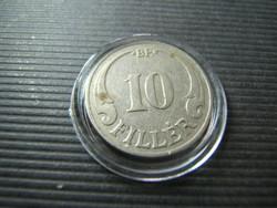 10 fillér 1938