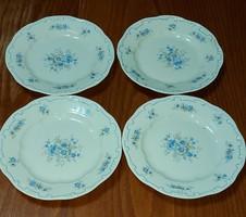 Kék tollazatú süteményes tányérok