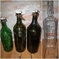 Zwack, kristály, harmat víz és tejes üvegek / az ár 1 db-ra vonatkozik