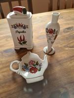 Kalocsai porcelán paprikatartó