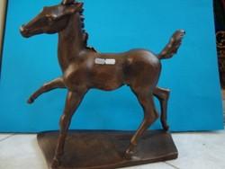 Cseh István (1909-?) : Bronzozott kerámia ló