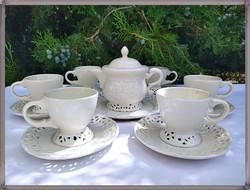 Shabby stílusú Villa Loca, fajansz teás, kávés készlet