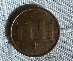 1 euró cent 2002 olasz