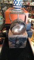 Telepes bányász lámpa 20. század közepéről 31 cm magas, gyűjtői darab