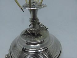 Német, 13 latos antik ezüst fogvájótartó