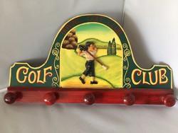 Irwing Golf Club felirattal festett fa, fali fogas (D1)