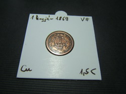 1 krajcár 1869