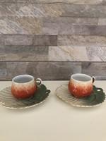 Antik Zsolnay kávéscsésze pár!