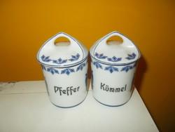 Régi német rosenthal porcelán fűszertartó bors és kömény