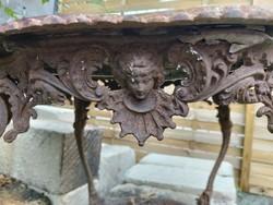 Antik öntöttvas asztal,SÉRÜLT!!!