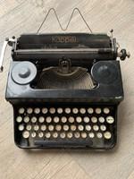 Írógép loft antik régi bőr táskával KAPPEL