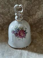 Hibátlan Hollóházi margaréta virágos porcelán csengő
