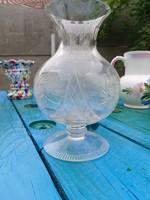 Antik csiszolt váza ,kehely