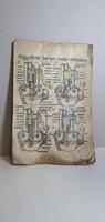 AUTÓSZERELŐI RITKASÁG régi brosúra, könyv