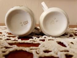 Zsolnay ibolyás csészék