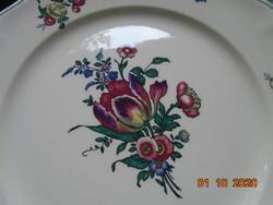 Villeroy&Boch ALT STRASSBURG tulipán,virágos polikróm tányér,vintage jelzés,mosogató gépben mosható