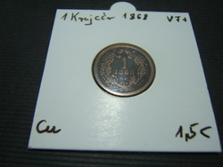1 krajcár 1868