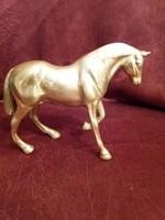 Nehéz, szép kidolgozású réz ló!