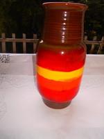 RETRO  KERÁMIA  váza 23 cm - szép élénk színek