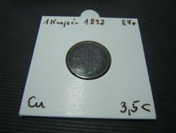 1 krajcár 1892