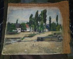 Bánovszky Miklós olajfestmény, a szentendrei műhelyből