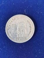 Kanada 100 éves Brit Kolumbia .800 ezüst 1 Dollár 1958