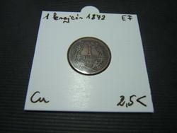 1 krajcár 1872