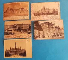 5 db osztrák képeslap Bécs Wien