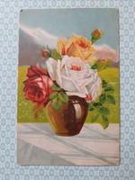 Régi képeslap 1942 rózsás levelezőlap