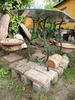 Antik gépláb ,asztal