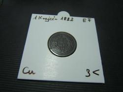 1 krajcár 1882