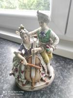 Zenész  rokokó pár Lippelsdorfi