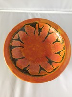 Iparművészeti, jelzett kerámia falitál- art ceramic bowl (D1)