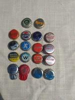 Ritka régi sörös,üdítős kupakok