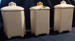 Antik porcelán, konyhai tároló /fűszertartó (3db)eladó