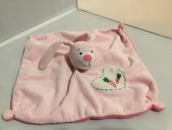 Rózsaszín, nyuszis csörgős nyunyóka, babáknak