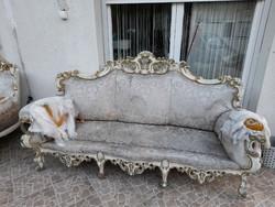 Francia barokk ülőgarnitúra - Sürgősen eladó - Felújítandó