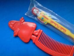 Ritka régi retro McDonald's kollekció - Ronald Mcdonald fogkefe és Grimace fésű - felhasználatlan